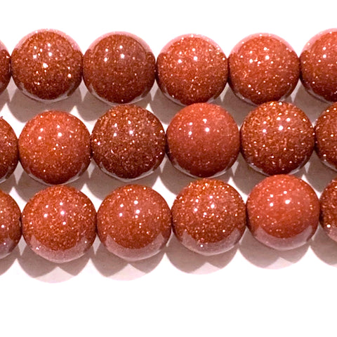 10mm Goldstone Beads