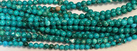 4mm Magnesite(dyed) Beads