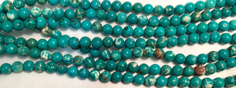 6mm Magnesite(dyed) Beads
