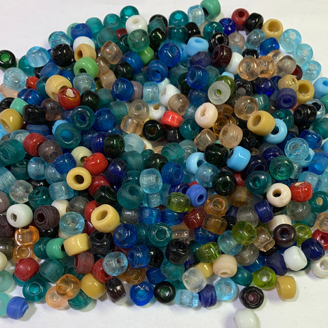 9mm Crow Glass Beads Mix, 0.75 LB