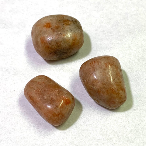 Tumbled Sunstone, 3 pieces