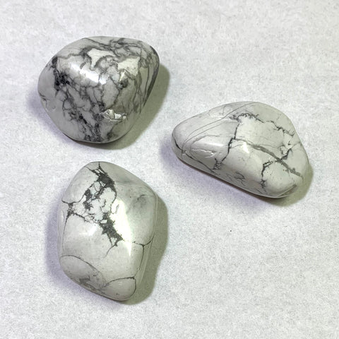 Tumbled Howlite, 3 pieces