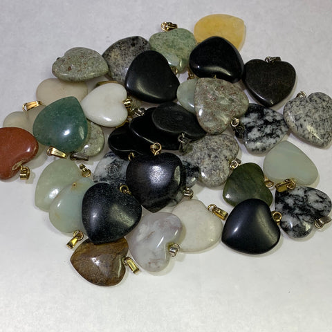Stone Heart Pendants/Charms