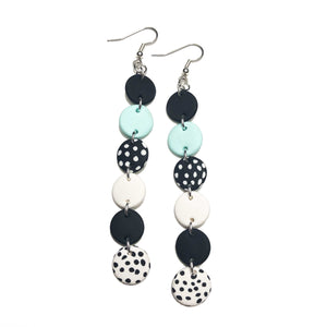 Dangle Janes - XL Hooks - Black & Mint. (Made to order)