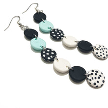 Load image into Gallery viewer, Dangle Janes - XL Hooks - Black & Mint. (Made to order)