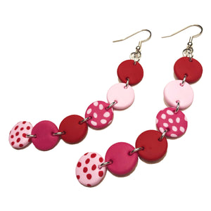 Dangle Janes - XL Hooks - Red & Pink. (Made to order)