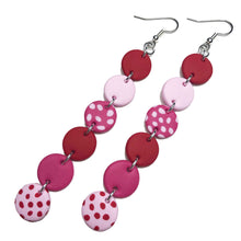 Load image into Gallery viewer, Dangle Janes - XL Hooks - Red & Pink. (Made to order)