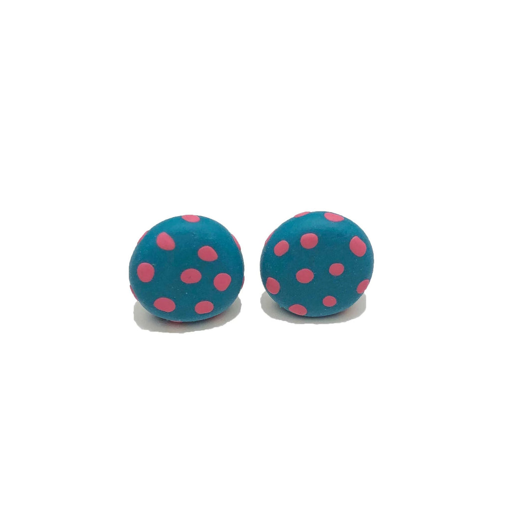 Spotty Janes - Teal & Blush Spot