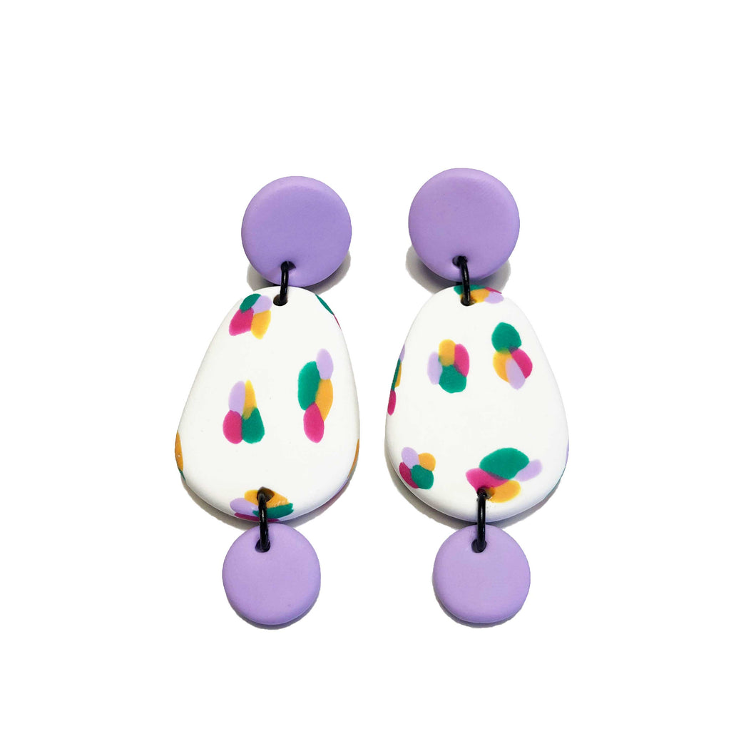 Dangle Janes - Lilac + Green + Orange + Pink