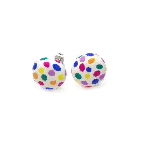 Spotty Janes - White + Rainbow Spot (Made to order)