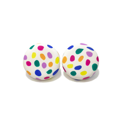 Spotty Janes - White + Rainbow Spot Large. (Made to order)