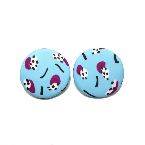 Spotty Janes - XL - Sky Blue + Ultraviolet Purple (Made to order)
