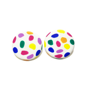 Spotty Janes - XL - White + Rainbow Spot. (Made to order)