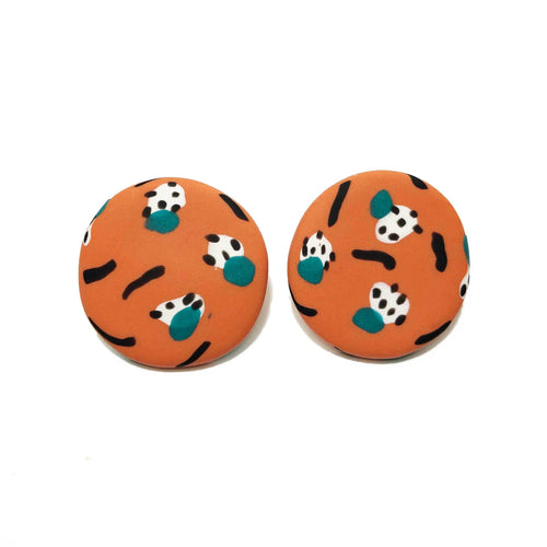 Spotty Janes - XL - Spiced Orange + Teal. (Made to order)