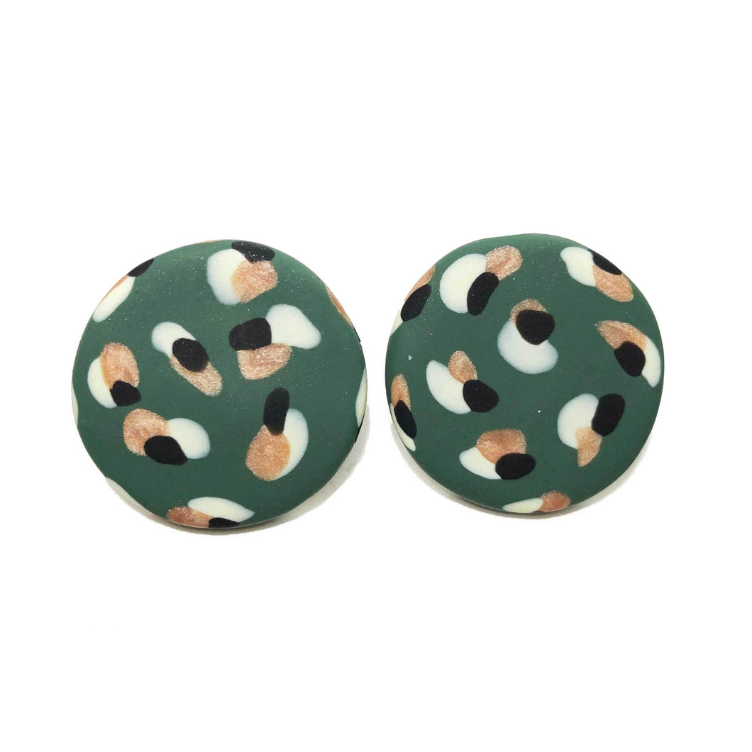 Spotty Janes - XL - Jungle Green, Copper + Lemon. (Made to order)