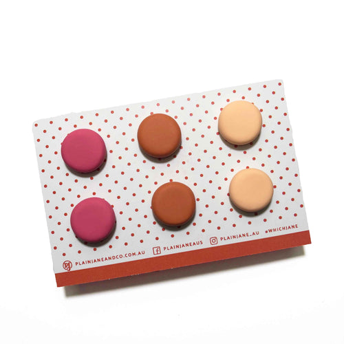Plain Jane Stud Packs - Blush, Pumpkin & Peach