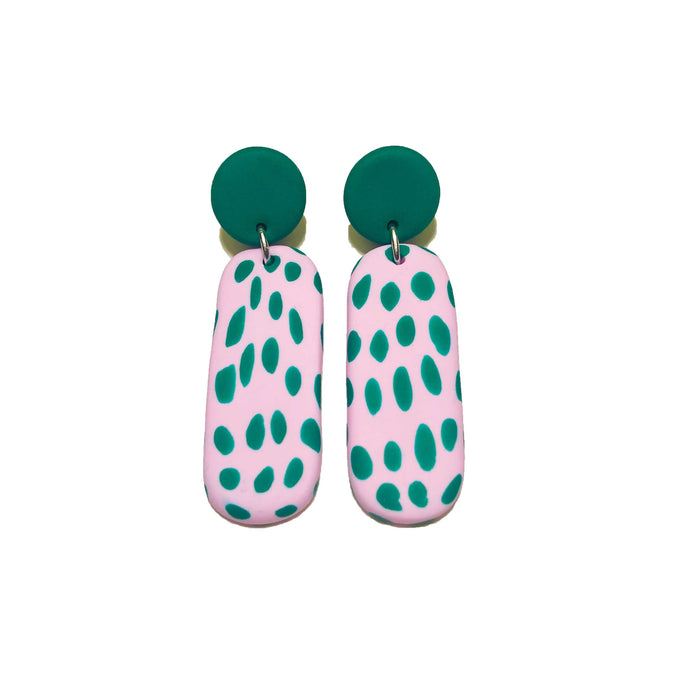 Sticky Janes - Pastel Pink + Emerald Green