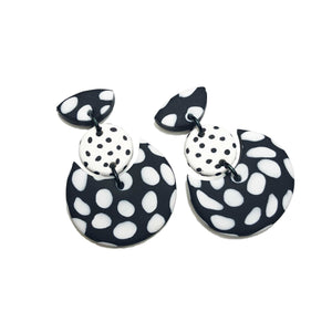 Dangle Janes - Monochrome Spots. (Made to order)