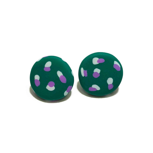 Spotty Janes - Green + White & Purple Spot. (Made to order)