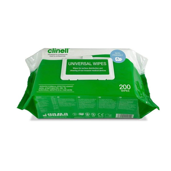 Clinell Universal Wipes Pack fra 200 3110