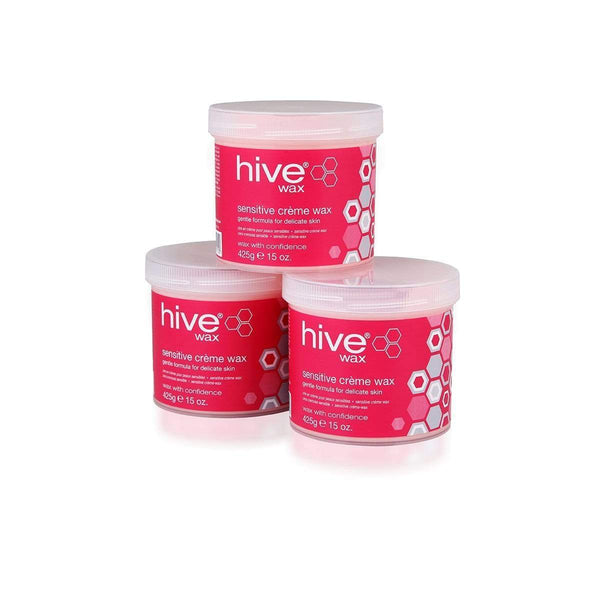Hive Pink Sensitive Creme Wax Pack of 3 3176