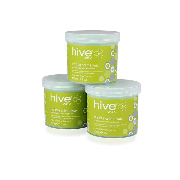Hive Tea Tree Creme Wax Pack of 3 3174