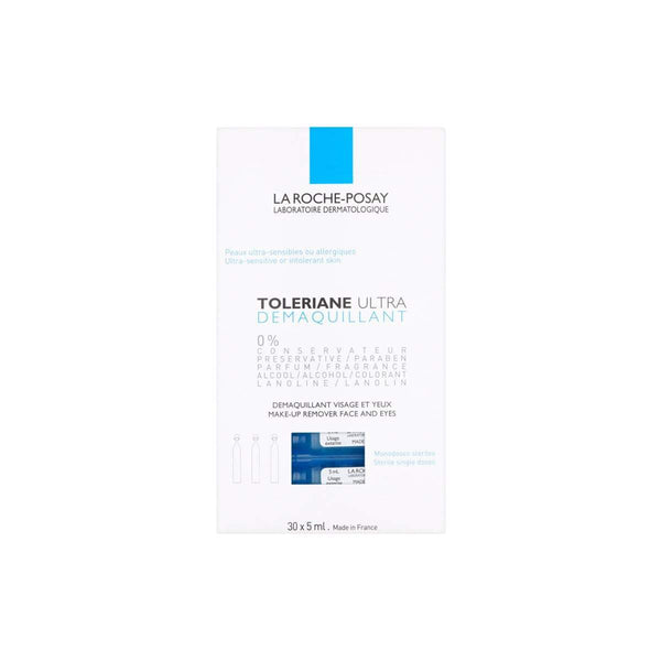 La Roche-Posay Toleriane Ultra Make Up Remover Face & Eyes pk/30 x 5ml H2882