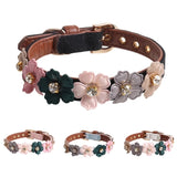 BratPup Floral Gem Pet Collar