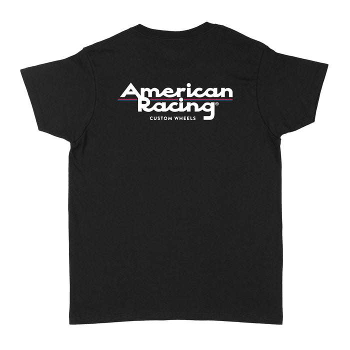 American Racing Logo Womens T-Shirt - Black