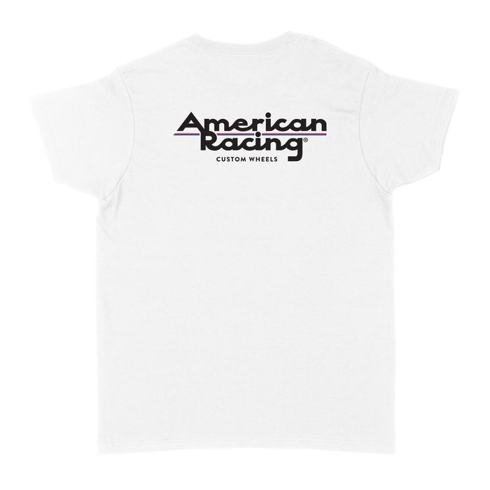 American Racing Logo Womens T-Shirt - White