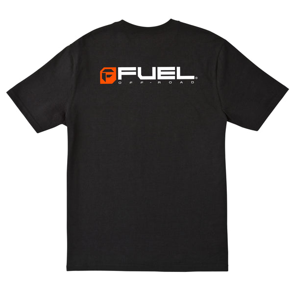 Fuel Orange Logo T-Shirt - Black