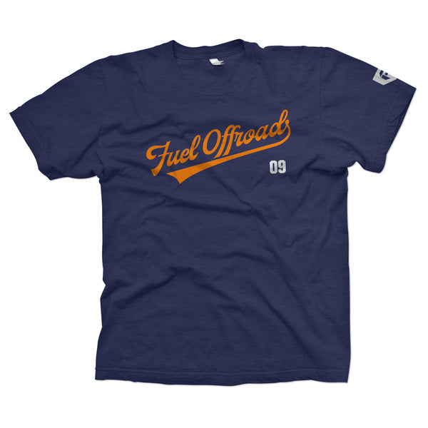 Fuel Baseball Logo T-Shirt - Heather Navy