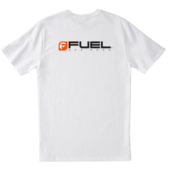 Fuel Orange Logo T-Shirt - White