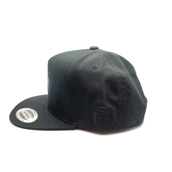 Fuel - Woven Label Flexfit® Snapback Hat - Black