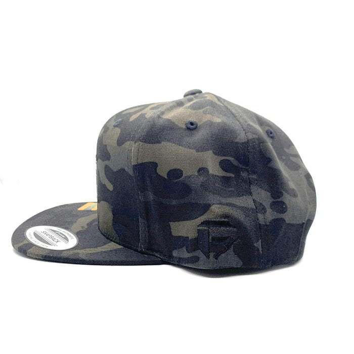 Fuel - Woven Label Flexfit® Snapback Hat - Multicam Black