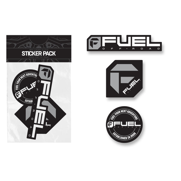 Fuel Sticker Pack - Gray