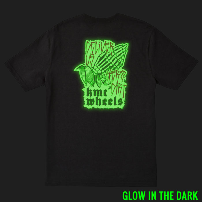 Glow-in-the-dark Hands T-Shirt - Black