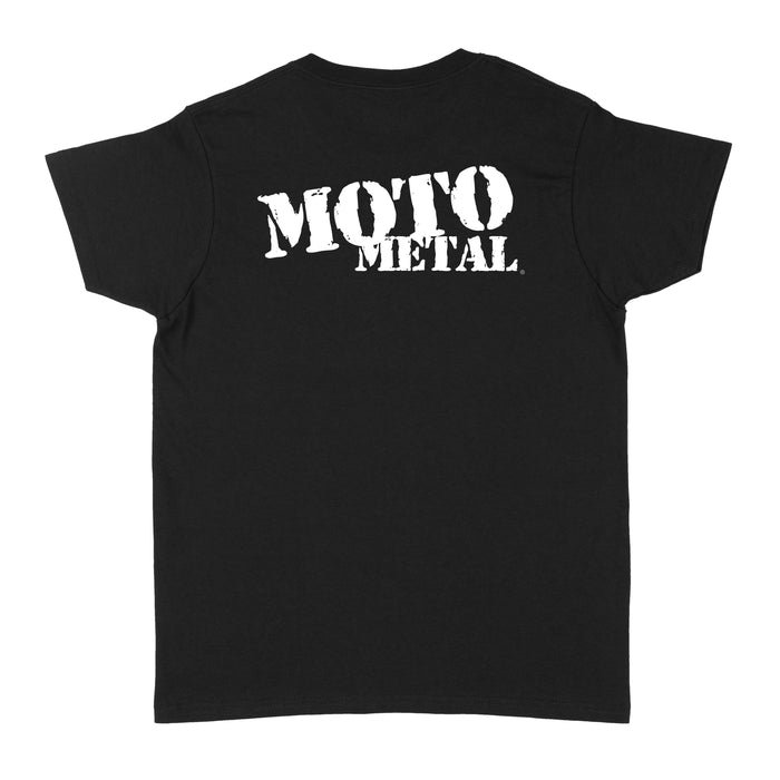 Moto Metal Logo Womens T-Shirt - Black