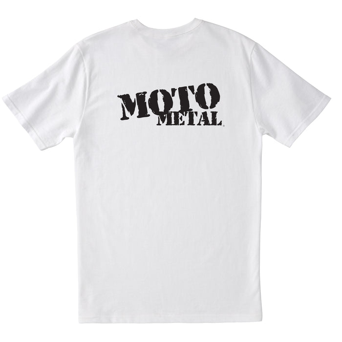 Moto Metal Logo T-Shirt - White