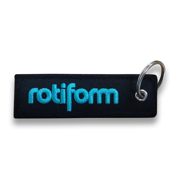 Rotiform Embroidered Keychain
