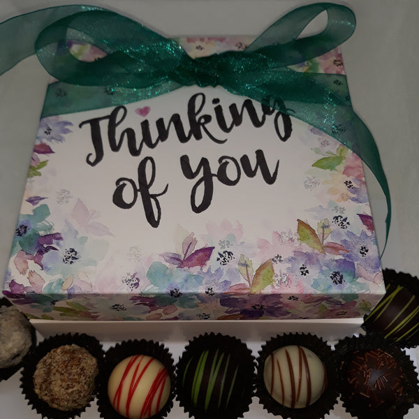 Chocolate Truffles - Floral Thoughtfulness Box (18)