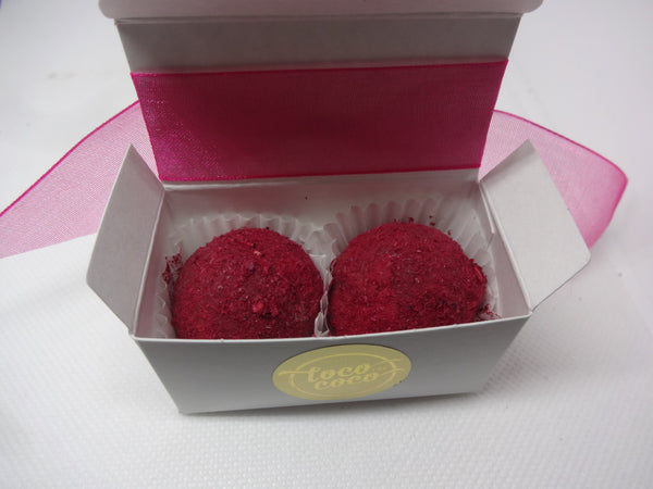Chocolate Favor Box - 2 Truffles