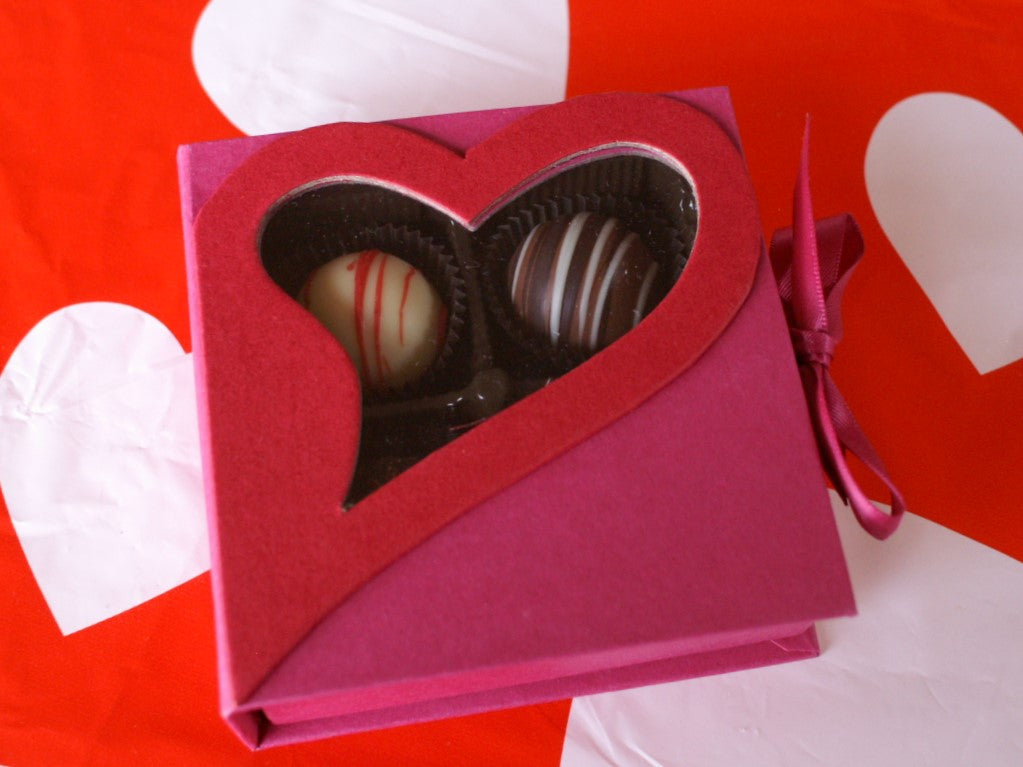 4 PIece See-through Heart Truffle Box