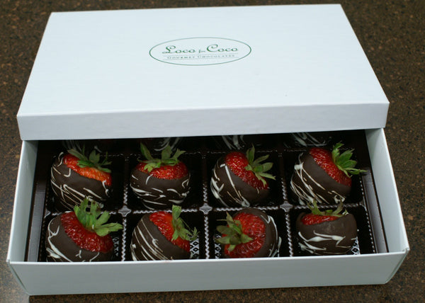 Chocolate Coated Strawberries - Dozen AVAILABLE for 4/20