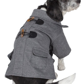 Military Static Rivited Fashion Collared Wool Pet Coat