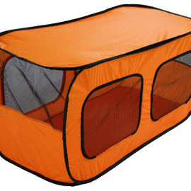 Dual Mesh Window Wired Lightweight Collapsible Outdoor Multi-Pet Tent
