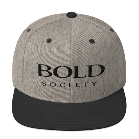 Snapback - Heather Grey & Black - Bold Society