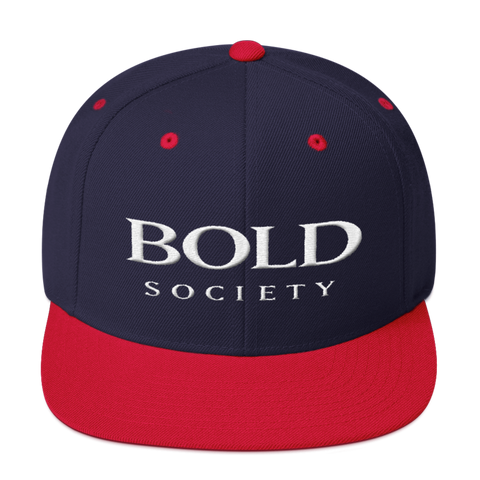 Snapback - Navy & Red - Bold Society