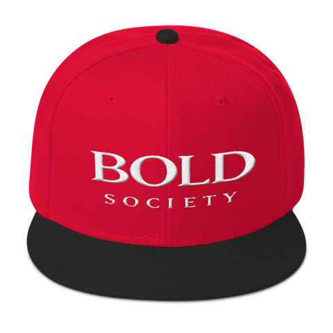 Snapback - Red & Black - Bold Society