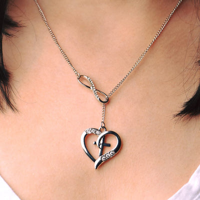 Infinite Heart Cross Necklace